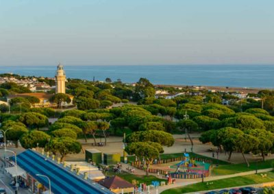 Vista aérea parque Mazagón