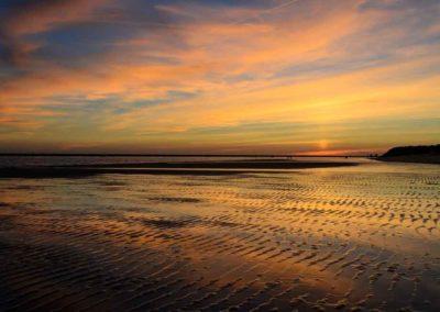 Anochecer playa Mazagón