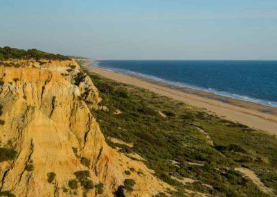 Médanos dunares acantilados Mazagón