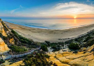 Panorámica bajada Playa del Parador Mazagón